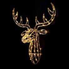 Premier 70cm Acrylic Lit Reindeer Head - Warm White (LV161128WW) Christmas Lights