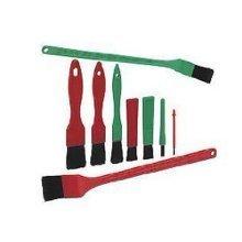 Vikan Detailing Brush Set - 2 Long Handled & 7 Mixed Detailing Brushes