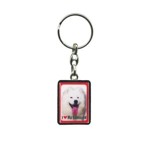 Samoyed Dog Keyring