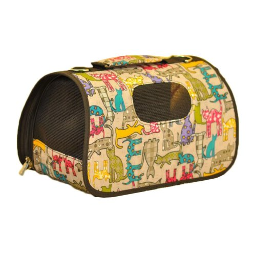 Multicolored Cats Pattern Pet Travel Tote Bag