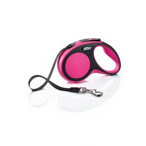 Flexi North America 860703 16 ft. 33 lbs Flexi New Comfort Tape Leash - Small, Pink