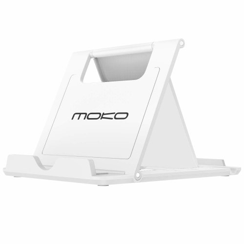 """MoKo Cell Phone Stand/Tablet Stand, Universal Foldable Multi-angle Desktop Holder for Smartphone, Tablet(6-11""""), Compatible with iPhone Xs/Xs..."""