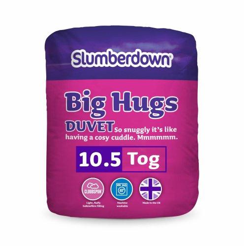 Slumberdown Big Hugs 10.5 Tog Duvet, White, Double Bed