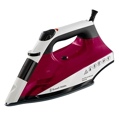 Russell Hobbs Auto Steam Pro Non-Stick Iron 22520, 2400 W - White and Red