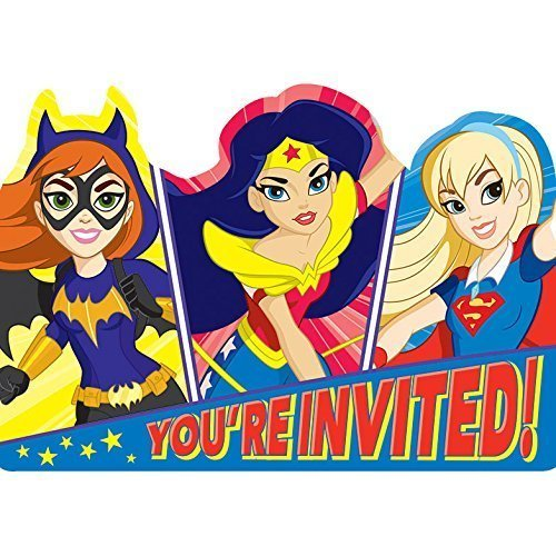 DC Super Hero Girls Invitations & Envelopes