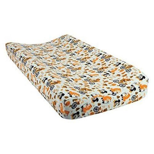 TrendLab 101451 Lets Go Deluxe Flannel Changing Pad Cover