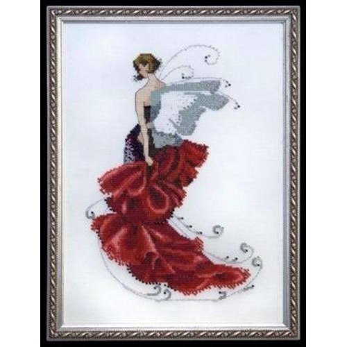Pixie Couture Collection Poppy Counted Cross Stitch Chart Pattern