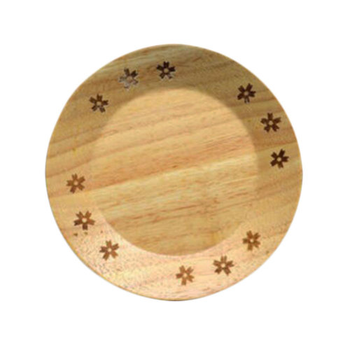 Wooden Dinnerware Fruit/ Meat/ Dessert Plates Round Shape Dishes 15 CM-A4