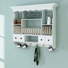 White Wooden Kitchen Wall Cabinet