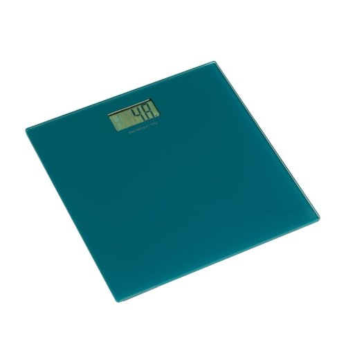 Square Tempered Glass Bathroom Scale - Turquoise
