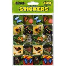 Eureka Butterflies Real Photos Stickers