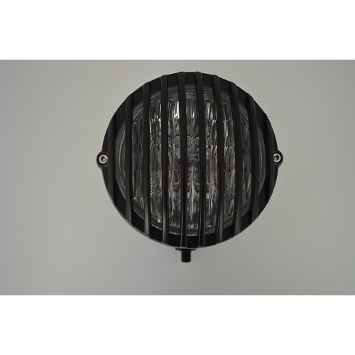 "5"" Black Cast Aluminium Universal Prison Motorbike Headlight for Custom Project"