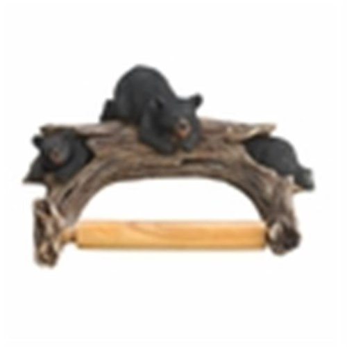 Eastwind Gifts 10016202 Black Bear Toilet Paper Holder