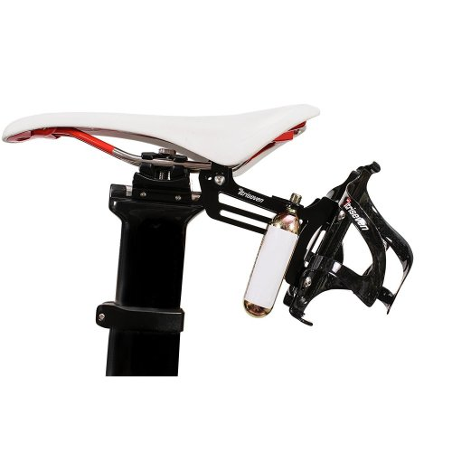 Cycling Triathlon Saddle Cage Holder TRISEVEN 30 For Water Bottles, for 2 Cartridge co2, for Cycling Bag