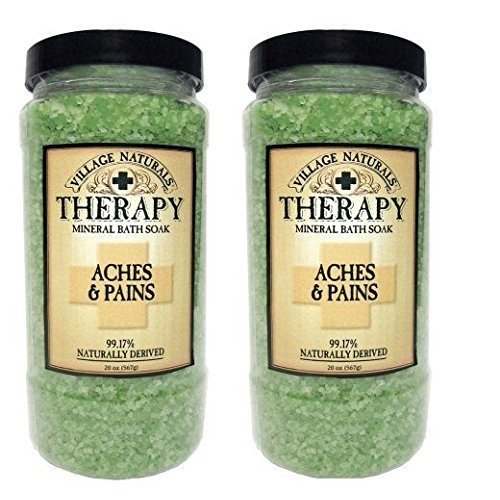 Village Naturals Therapy Aches Amp Pains Mineral Bath Soak 20 Oz 2 Containers