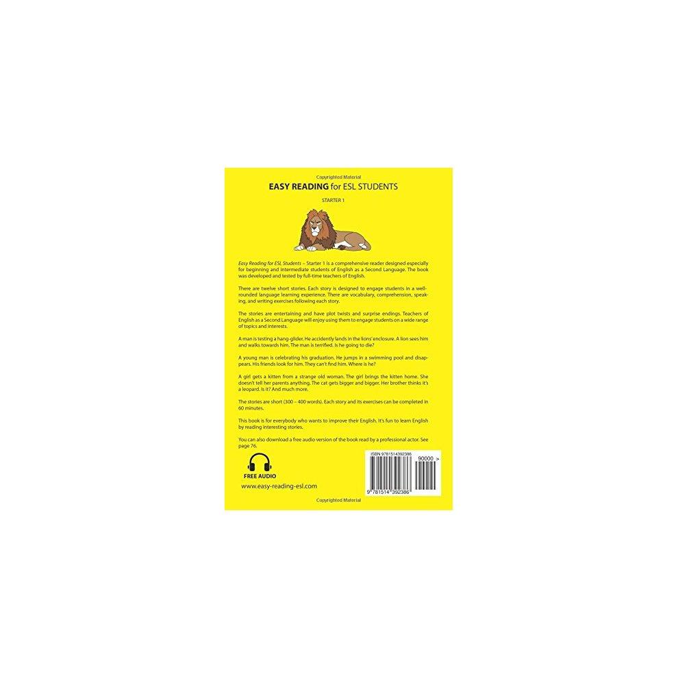 Easy Reading for ESL Students - Starter 1: Twelve Short Stories for  Learners of English: Volume 1