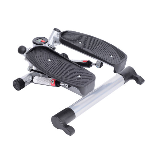HOMCOM Mini Stepper W/Arm Cord-Black/Silver Grey