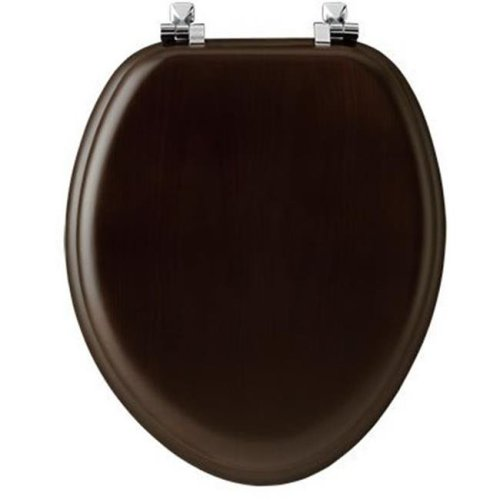 Bemis 19601CP 888 Walnut Elongated Wood Toilet Seat