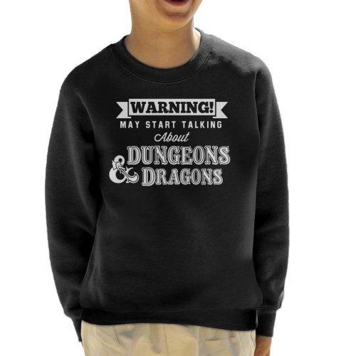 Warning May Start Talking About Dungeons And Dragons Kid's Sweatshirt