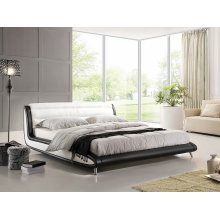 Super King Size - 6 ft - Leather Bed 180x200 cm - incl. stable slatted frame - NIZZA
