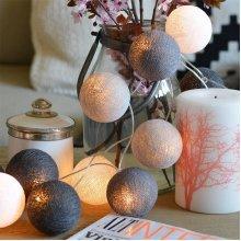 20 LED Cotton Balls Fairy String Lights