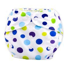 2 Pcs Colorful Dot Breathable Waterproof Baby Infant Leak Proof Diaper