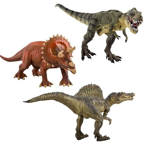 deAO Durable Toy Dinosaur Model Figures Pack of 3 Approx 29cm