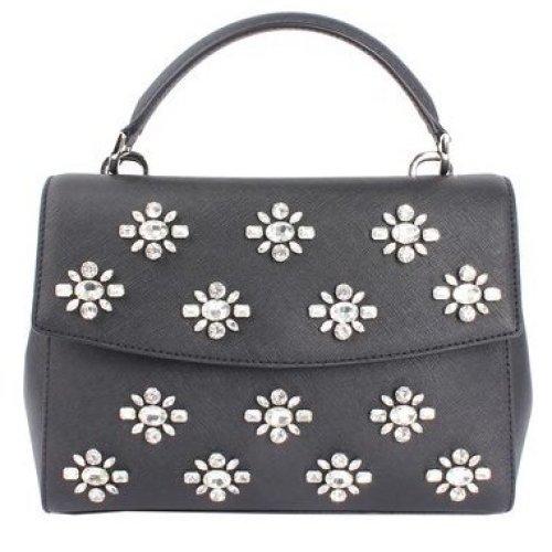 Michael Kors Ava Jewel Small Leather Satchel - Black - 30F6TAVS1O-001