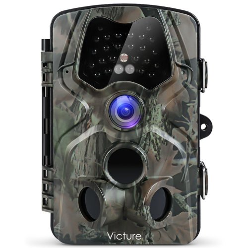 "Victure 1080P Full HD Wildlife Trail Camera Trap 12MP Infrared Cam with Night Vision 120°Wide Angle Motion Activated 2.4"" LCD Display for Outdoor..."