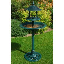 Ormanental Bird Bath And Table - Ornamental Garden Kingfisher Feeding Bb01 -  bird bath table ornamental garden kingfisher feeding bb01