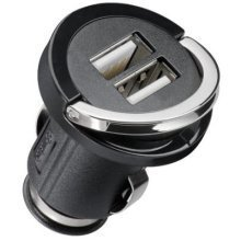 Microconnect 2xUSB Car Charger Auto Black mobile device charger