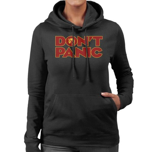 Dont Panic Hitchhikers Guide To The Galaxy Women's Hooded Sweatshirt