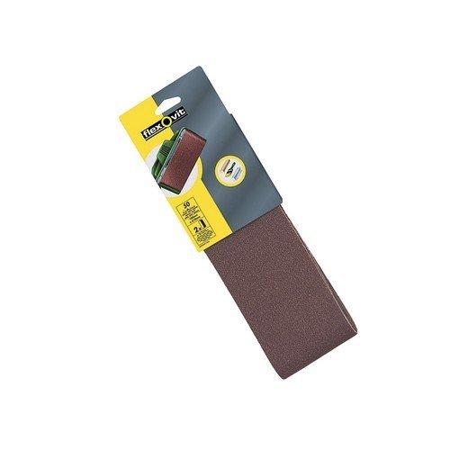 Flexovit 63642526479 Cloth Sanding Belts 610mm x 100mm 120g Fine Pack of 2