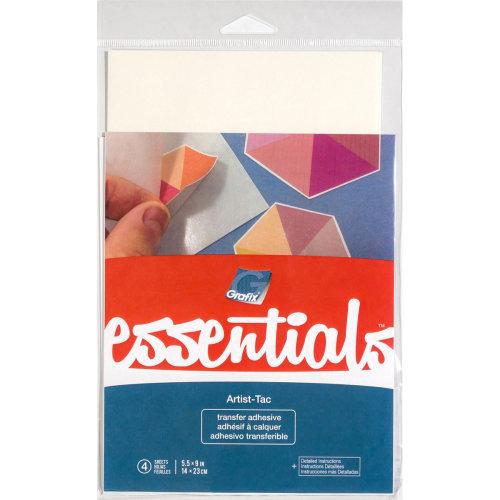 """Grafix Essentials Artist-Tac Dot Adhesive 5.5""""x9"""" 4/Pkg-Permanent"""