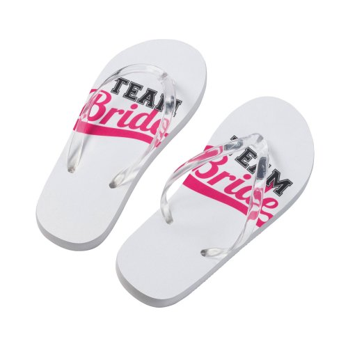 Team Bride Flip Flops Large