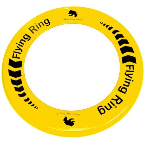 Yellow Flying Ring - Fun Outdoor Summer Toy - Disc Frisbee Type Beach Garden Toy
