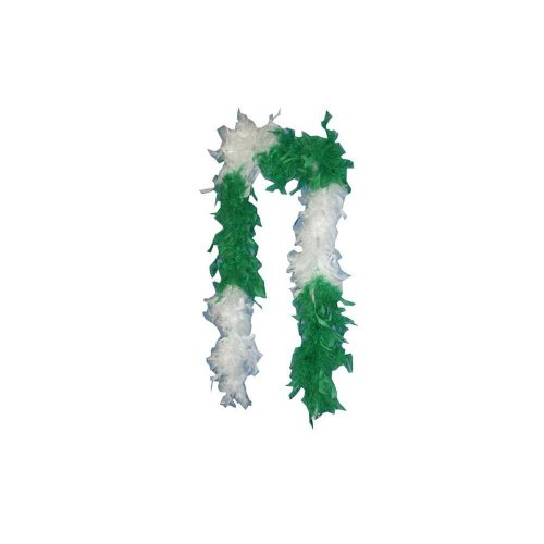 Green & White Feather Boa - Default Title