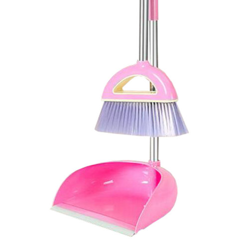 Durable Removable Broom and Dustpan Standing Upright Grips Sweep Set with Long Handle, #E5