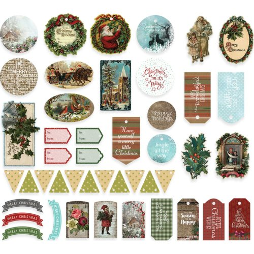 Couture Creations Highland Christmas Ephemera 45/Pkg-