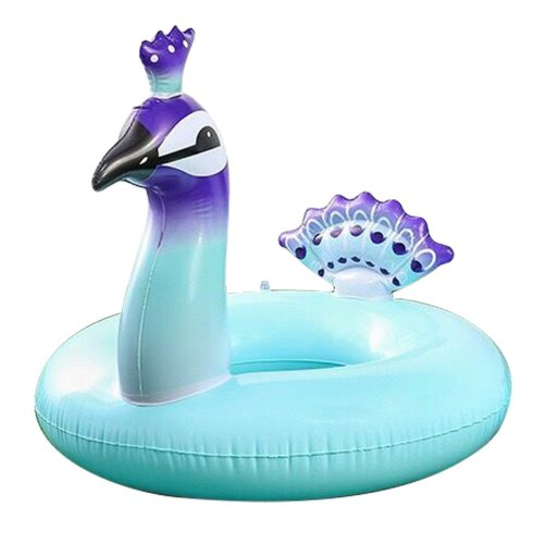 Cebelle Inflatable Pool Float for Kids/Adults Weight Below 75KG,Swim Floating Ring Water Toys Summer Outdoor Swimming Pool Inflatable Float Peacock