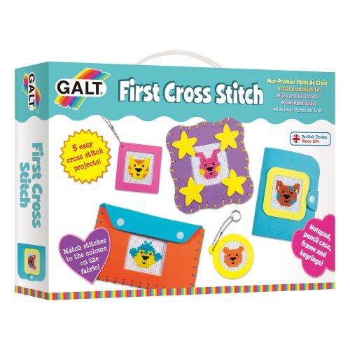 Galt Toys First Cross Stitch, Embroidery Craft Kit for Children