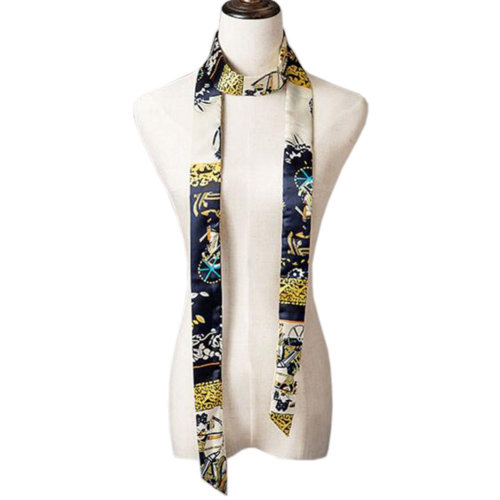 2 PCS Elegant Silk Scarf Neckerchief Silks And Satins Scarves Narrow-band Waistband B