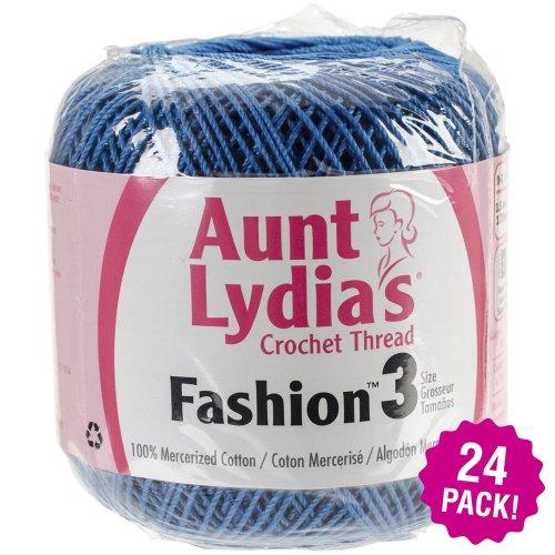 Aunt Lydia's Fashion Crochet Thread Size 3 24/Pk-Blue Hawaii