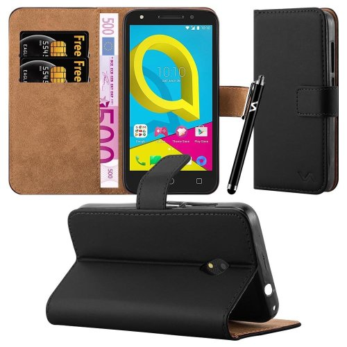 For Alcatel U5 4G Premium Leather Wallet Case