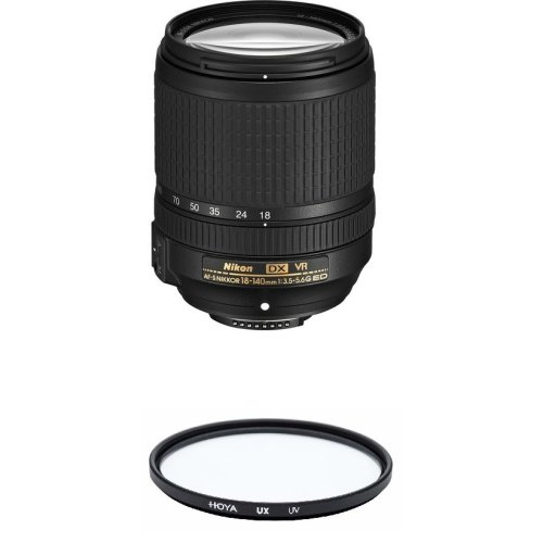 NIKON AF-S 18-140MM F3.5-5.6G ED VR DX+ HOYA UX UV 67mm Filter