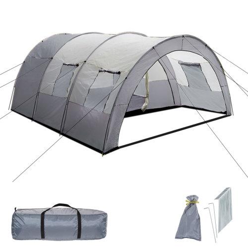 Family tent, waterproof dark gray/light gray