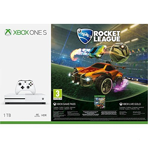 Xbox One S 1TB Console - Rocket League Blast-Off Bundle (Free 3 Months Gold / 1 Month Game Pass) (UK Version) (New)
