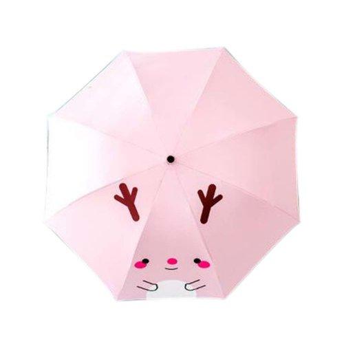Sunscreen Sun And Rain Umbrella Anti-UV Lovely Folding Umbrella, Pink