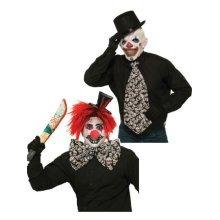 Evil Clown Jumbo Tie -  tie evil clown jumbo accessory fancy dress halloween bow party skulls big EVIL CLOWN TIE COSTUME OUTFIT FANCY DRESS HALLOWEEN