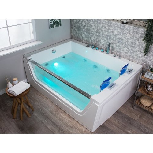 Whirlpool Bath with LED White CUBA